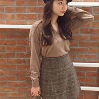 マーキュリーデュオ(MERCURYDUO)のマーキュリーデュオ 台形スカート グレンチェック(ミニスカート)
