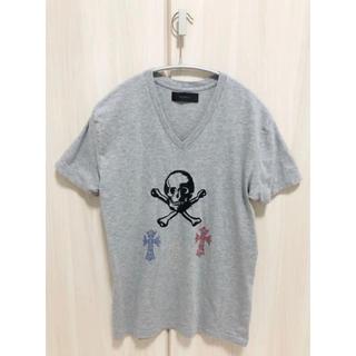 アームド(ARMED)の★ ARMED Vネック Tシャツ スカル グレー XS ペラフィネ好き必見★(Tシャツ(半袖/袖なし))