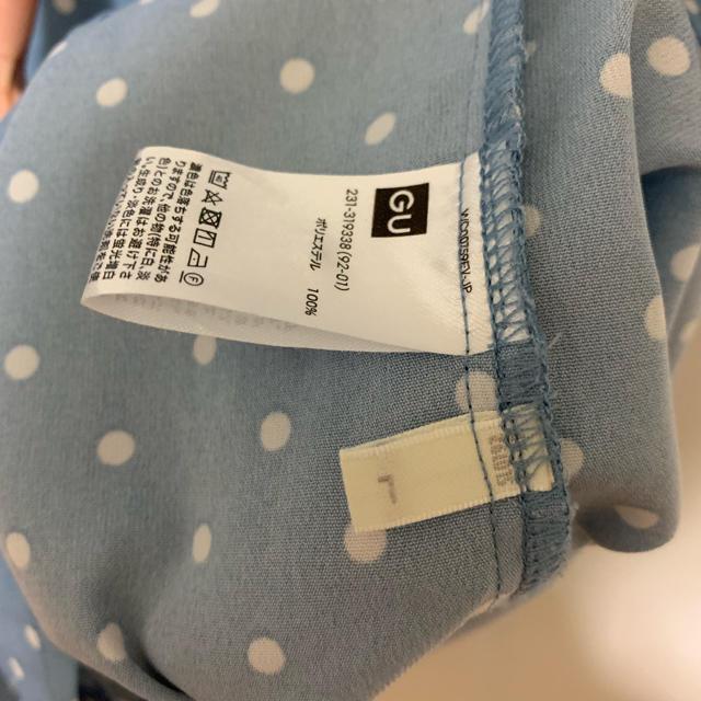 GU(ジーユー)のジーユー ドットオープンカラーシャツ レディースのトップス(シャツ/ブラウス(半袖/袖なし))の商品写真
