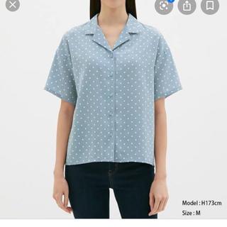 ジーユー(GU)のジーユー ドットオープンカラーシャツ(シャツ/ブラウス(半袖/袖なし))