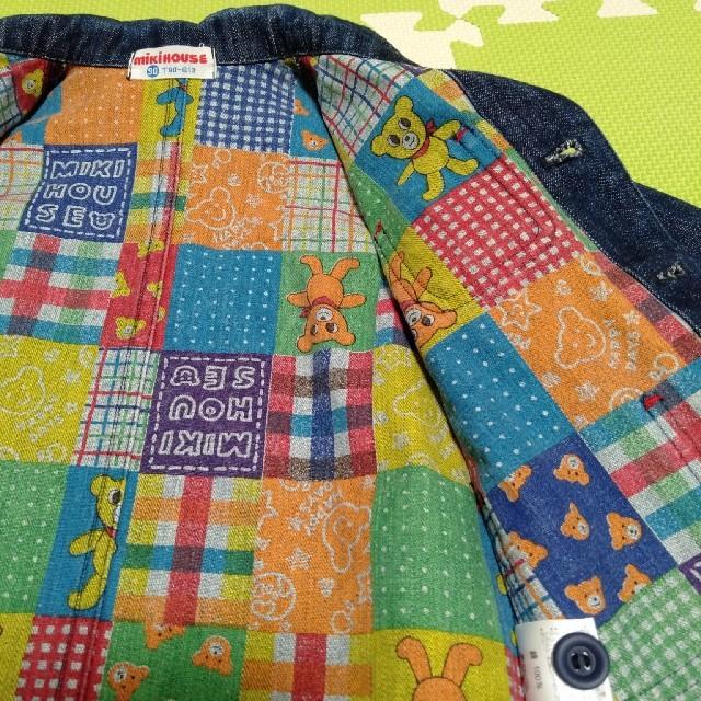 mikihouse(ミキハウス)の【ミキハウス】デニムジャケット90 キッズ/ベビー/マタニティのキッズ服 男の子用(90cm~)(ジャケット/上着)の商品写真