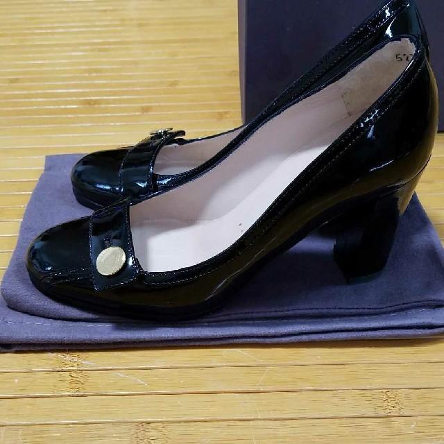 UNITED ARROWS(ユナイテッドアローズ)の美品 BRUNO FRISONI パテントパンプス 35 インポート レディースの靴/シューズ(ハイヒール/パンプス)の商品写真