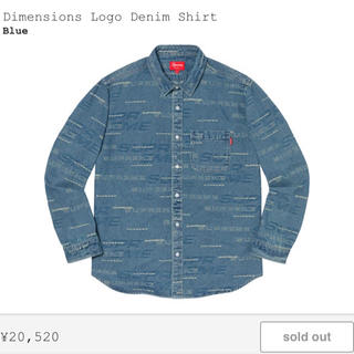Supreme - Supreme Dimensions logo denim shirt M