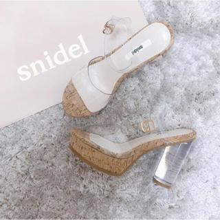 snidel - snidel クリアサンダル Mサイズ