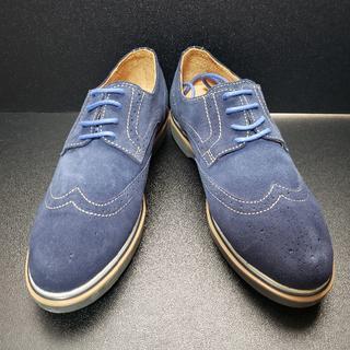 カンタレリ (CANTARELLI) イタリア製革靴 青 42