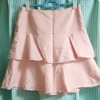 バービー(Barbie)のBarbieピンクフリルスカート(ひざ丈スカート)