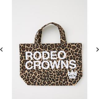 RODEO CROWNS WIDE BOWL - ロデオクラウンズ   ミニトート 柄ブラウン