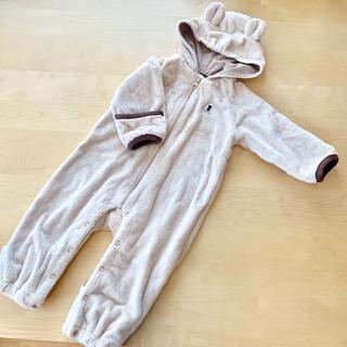 ミキハウス(mikihouse)の美品★ ミキハウス ジャンプスーツ 60 70 80 フリーサイズ 茶色 くま (ジャケット/コート)