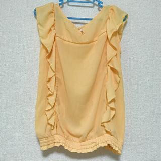 インデックス(INDEX)のIndex オレンジ トップス S(シャツ/ブラウス(半袖/袖なし))