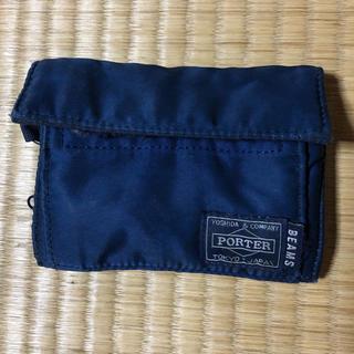 ビームス(BEAMS)のBEAMS × porter インディゴ ウォレット ジャンク品(折り財布)