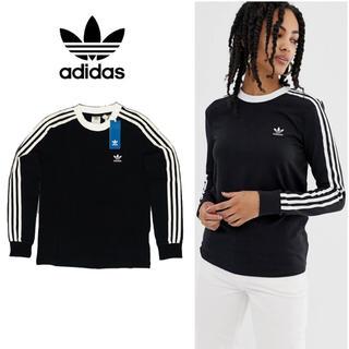 アディダス(adidas)のadidas originals adicolor ストライプ ロングTシャツ(Tシャツ(長袖/七分))