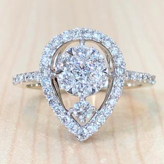 ✨合計0.7カラット✨キラキラ❣️ダイヤモンド ダイヤ K18 リング 指輪(リング(指輪))