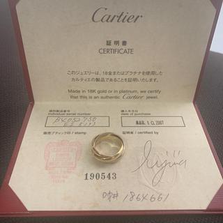 カルティエ(Cartier)のカルティエ リング トリニティ 3連 K18(リング(指輪))