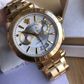 VERSACE - 最終値下げ!ヴェルサーチ 腕時計 45mm Gold/ Silver