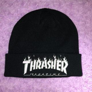 スラッシャー(THRASHER)のスラッシャー 帽子 ニット帽 黒(ニット帽/ビーニー)