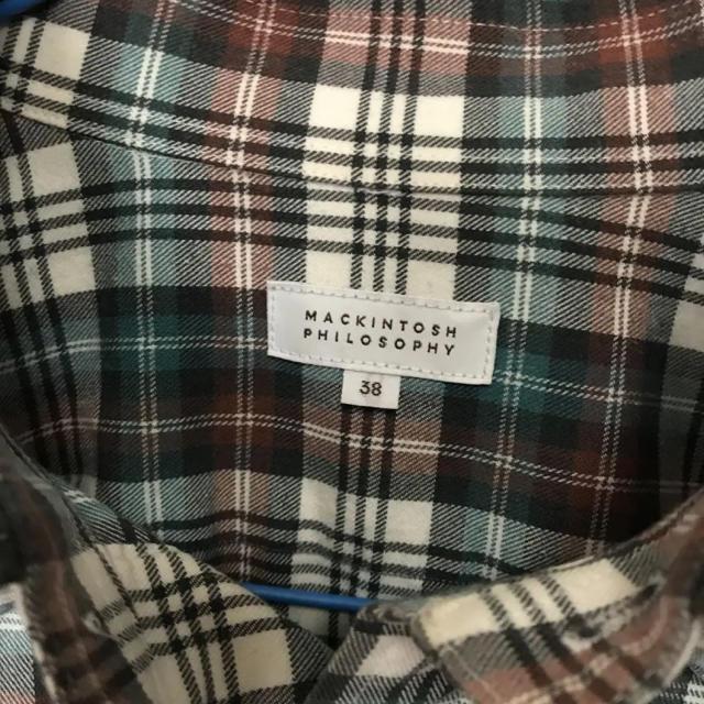 MACKINTOSH PHILOSOPHY(マッキントッシュフィロソフィー)のMACKINTOSH PHILOSOPHYチェック柄シャツ38 メンズのトップス(シャツ)の商品写真