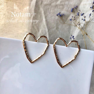 BEAUTY&YOUTH UNITED ARROWS - N-001 Simple Craft Heart Pierce S925針