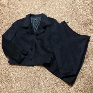 アニエスベー(agnes b.)の値下げ交渉OK アニエスベー スカートスーツ Mサイズ ブラック カシミヤ混(スーツ)