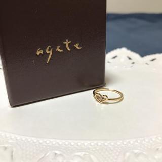 アガット(agete)のアガット ハートピンキーリング(リング(指輪))