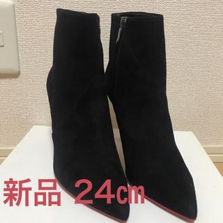 ダイアナ(DIANA)の新品 ダイアナ ショートブーツ 黒 スエード ブラック(ブーティ)