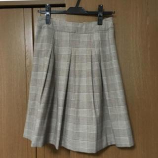 CLEAR IMPRESSION - プリーツスカート フレアスカート 膝丈スカート 事務服 OL 組曲 アンタイトル