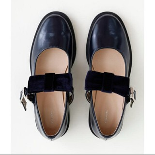 メルロー(merlot)のすみ様専用!merlot ローファー風 リボンシューズ 10月31日まで(ローファー/革靴)
