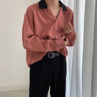 新品!開襟シャツ 長袖シャツ オーバーサイズ 韓国系