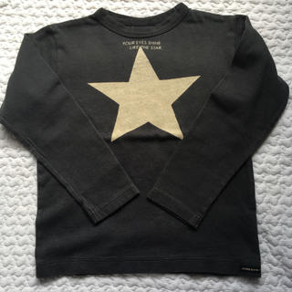 BREEZE - BREEZE 黒 星柄 カットソー ロンT size120