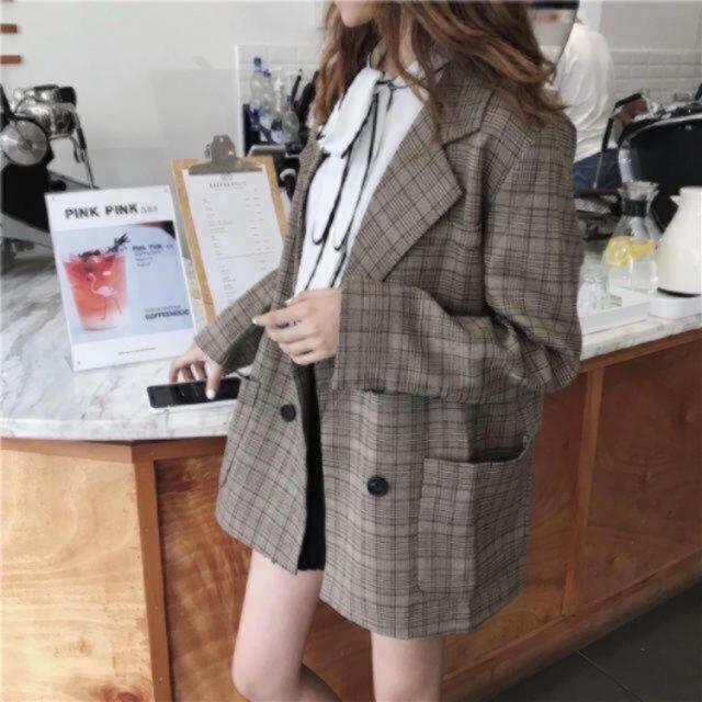 ZARA(ザラ)のグレンチェック ジャケット レディースのジャケット/アウター(テーラードジャケット)の商品写真