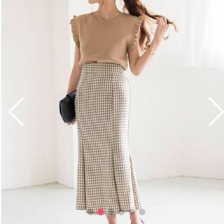 snidel - チェックパターンマーメイドペプラムスカート