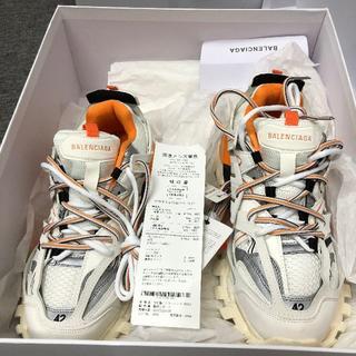 Balenciaga -  balenciaga track shoes 42 ホワイト オレンジ