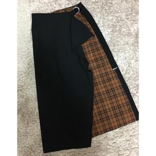 SCOT CLUB - ラップスカート ブラック×チェック 2018AW
