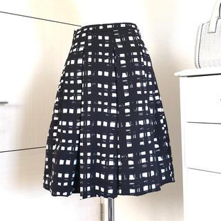ENFOLD - ENFOLD エンフォルド 手書き風モノクロギンガムチェックバルーンスカート