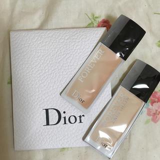 ディオール(Dior)のDior ファンデーション サンプル2点♡(ファンデーション)