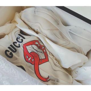 Gucci - GUCCI マウスプリント ライトン スニーカー