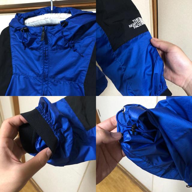 THE NORTH FACE(ザノースフェイス)の【新品・未使用】THE NORTH FACE PURPLE パーカ 青×黒 XL メンズのジャケット/アウター(ナイロンジャケット)の商品写真