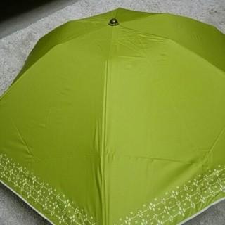 シビラ(Sybilla)の新品未使用シビラ折り畳みパラソル雨天兼用 コンパクト 遮光遮熱効果ライトグリーン(傘)