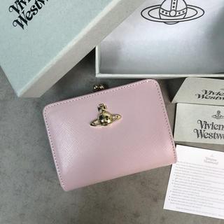 Vivienne Westwood - ◆新品未使用◆Vivienne Westwoodがま口 二つ折り財布◆Pink