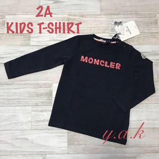 MONCLER - 2A モンクレール ロゴ入りロンT ネイビー ベビー キッズ