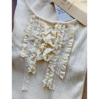 SM2 - SM2 胸元レーステレコTシャツ キナリ