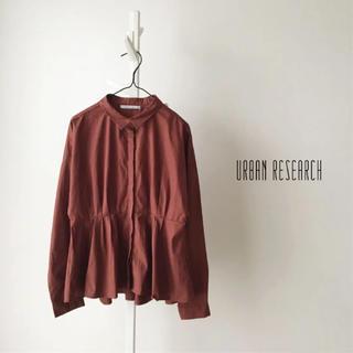 アーバンリサーチ(URBAN RESEARCH)の未使用 URBAN RESEARCH タックペプラムシャツ(シャツ/ブラウス(長袖/七分))