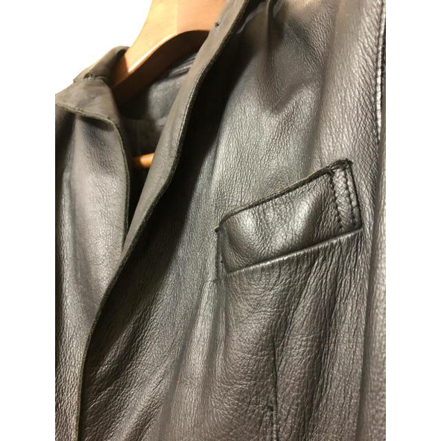 AMERICAN RAG CIE(アメリカンラグシー)の中古★アメリカンラグシー レザー2つボタンジャケット メンズのジャケット/アウター(レザージャケット)の商品写真