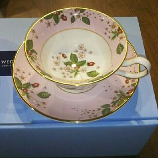 ウェッジウッド(WEDGWOOD)のウェッジウッド ワイルドストロベリー カップ&ソーサー(食器)