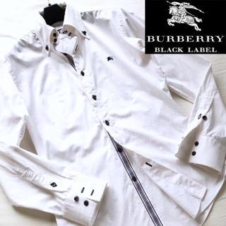 バーバリーブラックレーベル(BURBERRY BLACK LABEL)のバーバリーブラックレーベル ボタンダウンシャツ カッターシャツ 1 白 メンズ(シャツ)