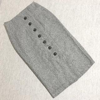 新品未使用 ツイード ボタン タイトスカート