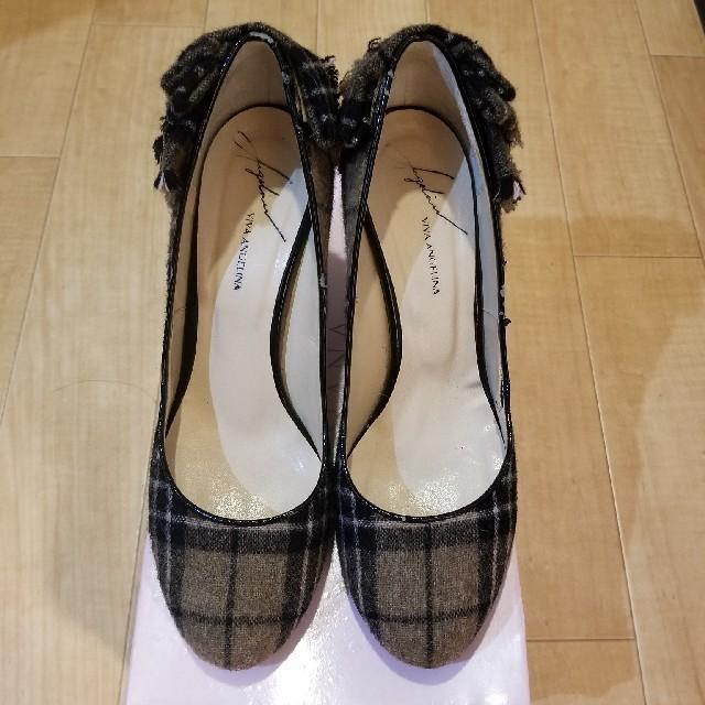 VIVA ANGELINA(ビバアンジェリーナ)のviva angelina ヒールパンプス ビジュー レディースの靴/シューズ(ハイヒール/パンプス)の商品写真