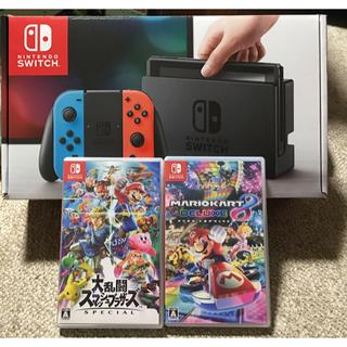 任天堂 - Nintendo Switch 本体  ソフト2本付き