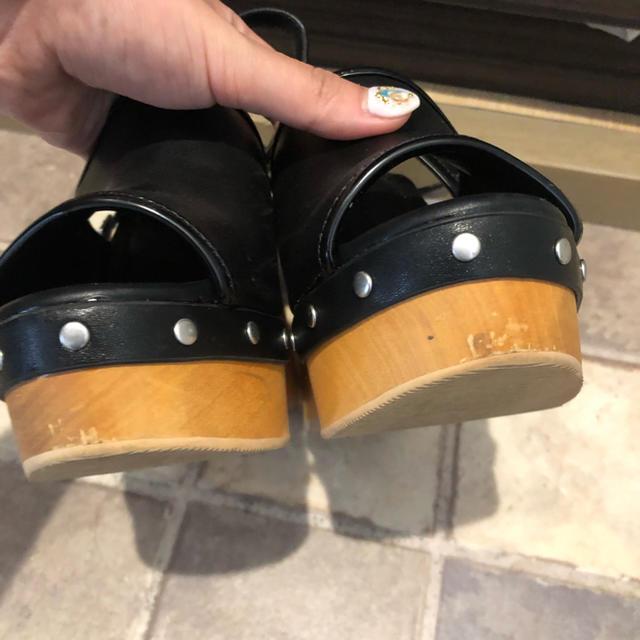 SLY(スライ)のSLY ウッドヒールチャンキーサンダル レディースの靴/シューズ(サンダル)の商品写真
