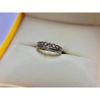 ピンキーリング  ホワイトゴールド K10 ダイヤモンド0.01カラット(リング(指輪))