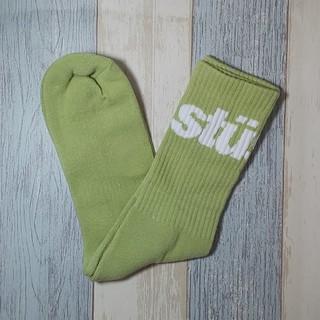 STUSSY - 【stussy】track team ソックス ライトグリーン